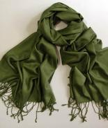 Green pure cashmere stole