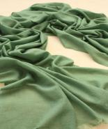 Pure cashmere scarves wraps green