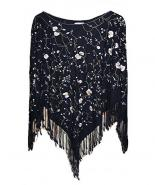 Embroidered pashmina pancho